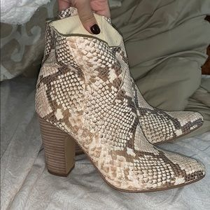 Vince Camuto snakeskin bootie